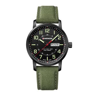 Wenger Attitude Men's Green Fabric Strap Watch - Product number 8368147