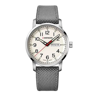 Wenger Attitude Heritage Men's Grey Fabric Strap Watch - Product number 8368163