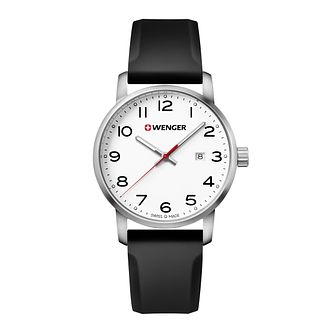 Wenger Avenue Men's Black Silicone Strap Watch - Product number 8368228