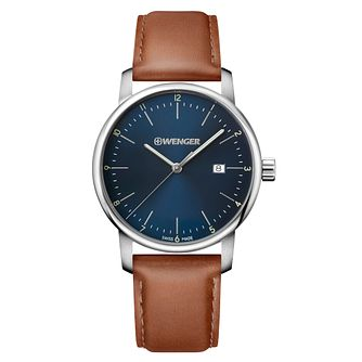 Wenger Urban Classic Men's Brown Leather Strap Watch - Product number 8368341