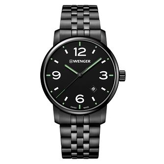 Wenger Urban Metropolitan Men's Black PVD Bracelet Watch - Product number 8368414