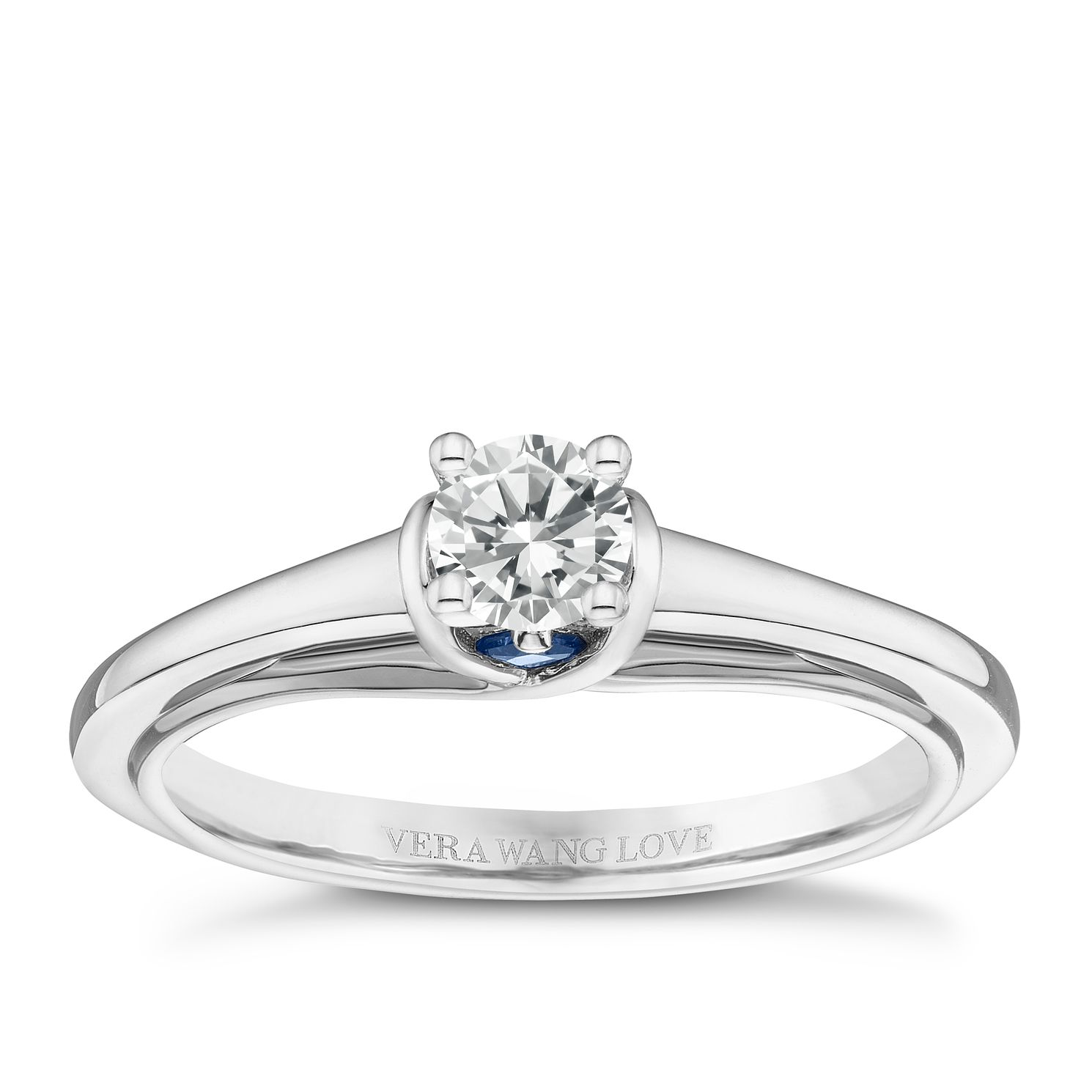 Vera Wang 18ct White Gold 0.30ct Diamond Solitaire Ring - Product number 8370648