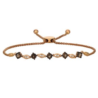 Le Vian 14ct Strawberry Gold Quartz & Diamond Bolo Bracelet - Product number 8372608