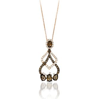 Le Vian 14ct Strawberry Gold Quartz & Vanilla Topaz Pendant - Product number 8372888