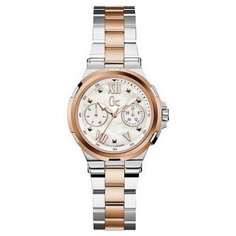 GC Structura Ladies' Two Colour Chronograph Bracelet Watch - Product number 8376409