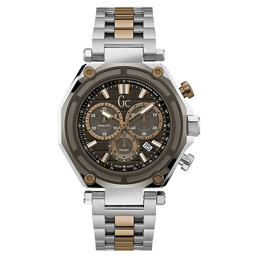 GC GC-3 Men's Two Colour Black Chronograph Bracelet Watch - Product number 8376433