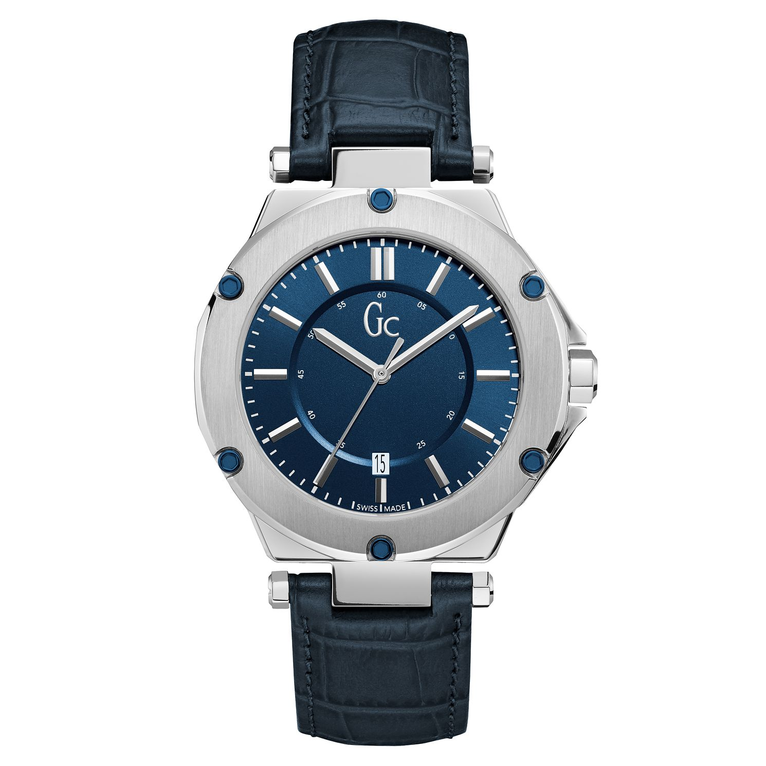 Gc 3 Sport Men's Blue Leather Strap Watch - Product number 8376468