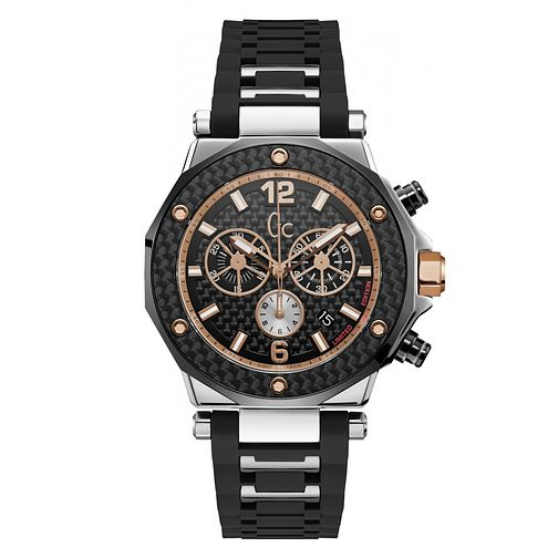 Gc 3 Men's Two Colour Chronograph Black Strap Watch - Product number 8376476