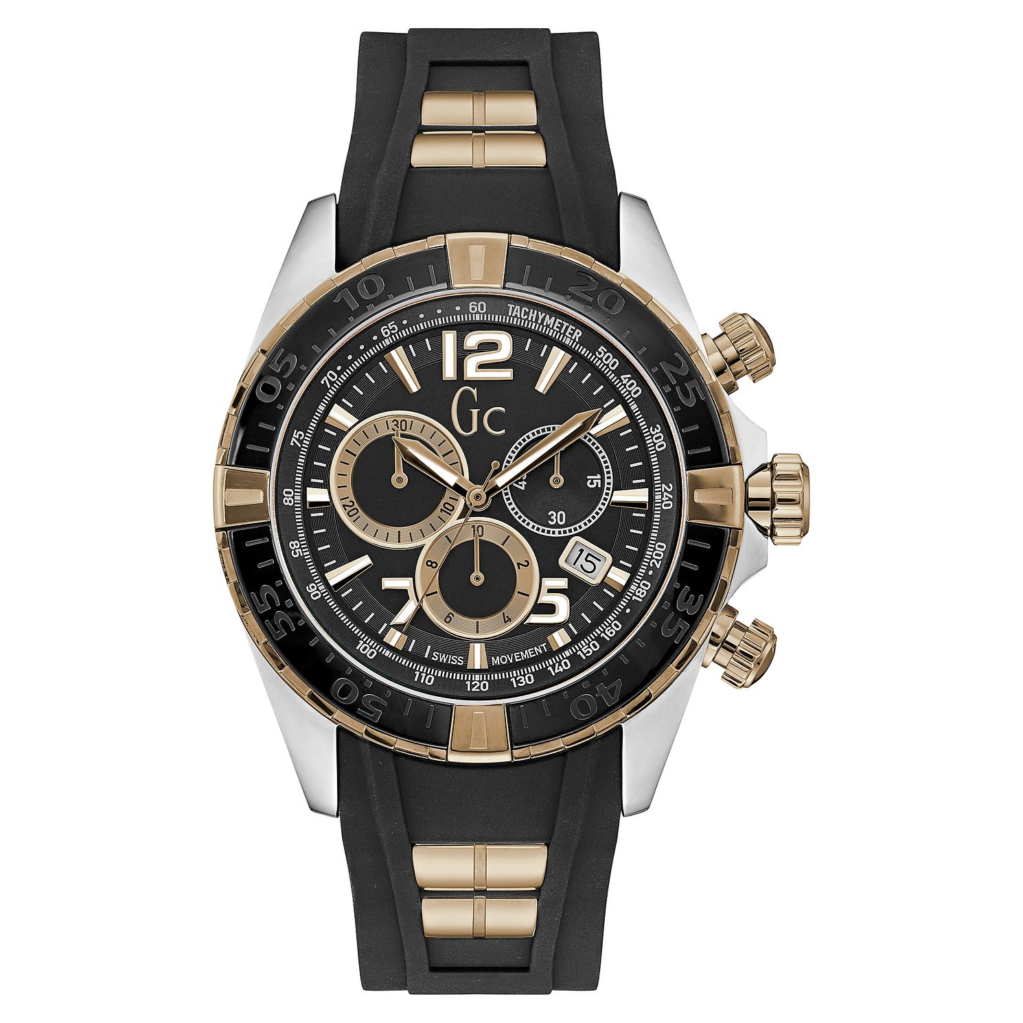 Gc Sportracer Men's Two Colour Chronograph Strap Watch - Product number 8376484