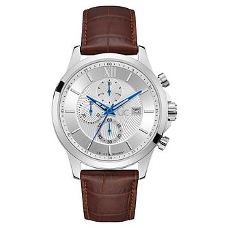 GC Executive Men's Stainless Steel Brown Leather Strap Watch - Product number 8376522