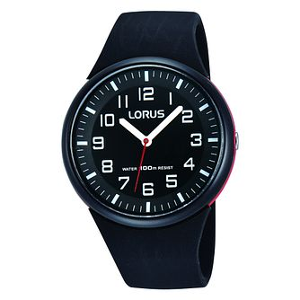 Lorus Ladies' Black Silicone Strap Watch - Product number 8376735