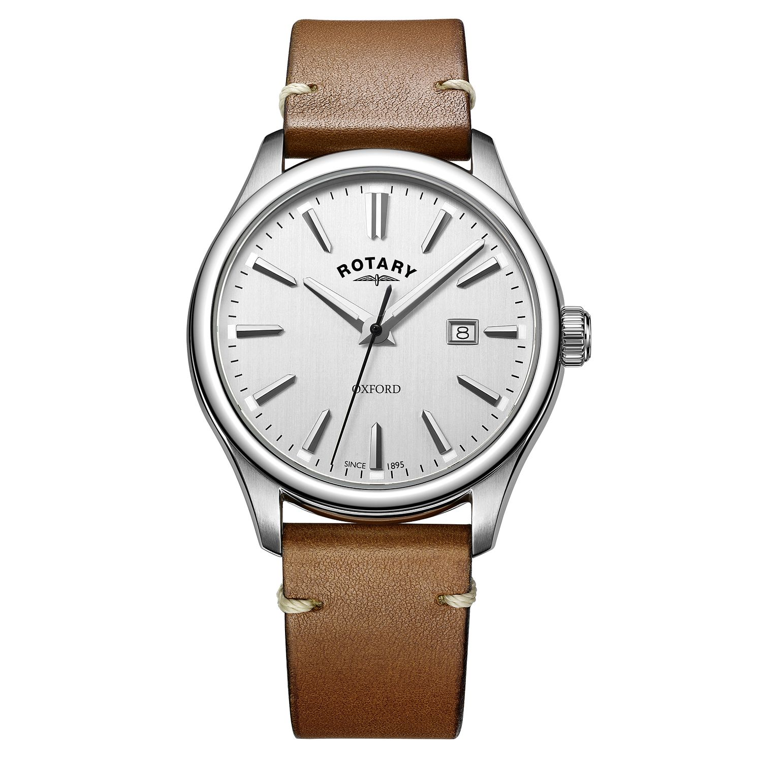 Rotary Men's Oxford Brown Leather Strap Watch - Product number 8376859