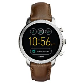 Fossil Q Men's Brown Leather Strap Smartwatch - Product number 8379408