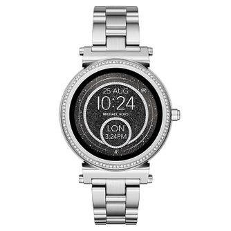 Michael Kors Ladies' Sofie Stainless Steel Smartwatch - Product number 8388288