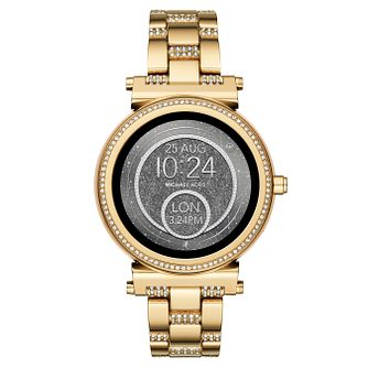 Michael Kors Access Sofie Gold Tone Stone Set Smartwatch - Product number 8388326