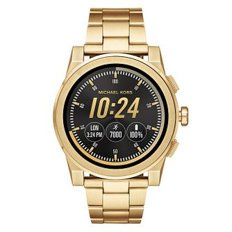 Michael Kors Access Grayson Men's Gold Tone Smartwatch - Product number 8388350