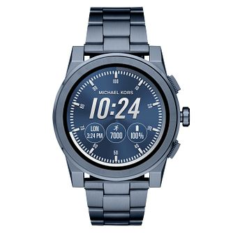 Michael Kors Access Grayson Blue Ion Plated Men's Smartwatch - Product number 8388369