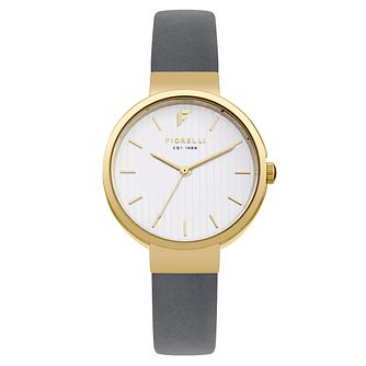Fiorelli Ladies' Dark Grey PU Strap Watch - Product number 8389772