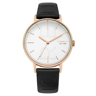 Fiorelli Ladies' Black PU Strap Watch - Product number 8389780