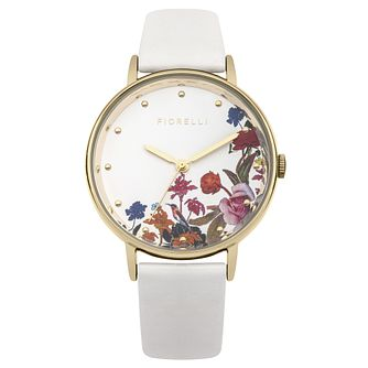 Fiorelli Ladies' White PU Strap Watch - Product number 8389934
