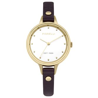 Fiorelli Ladies' Purple PU Strap Watch - Product number 8389942
