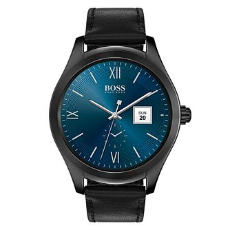 Hugo Boss Men's Touch Black Stainless Steel Smart Watch - Product number 8390223
