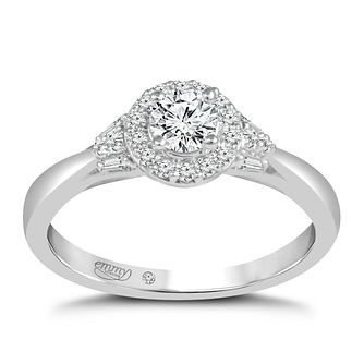 Emmy London Palladium 1/2 Carat Diamond Halo Ring - Product number 8390479