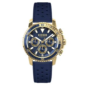 Versus Versace Men's Blue Leather Strap Watch - Product number 8391173