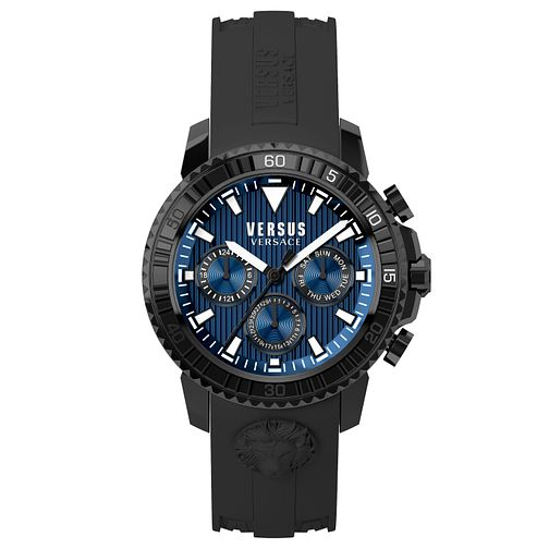 Versus Versace Men's Black Silicone Strap Watch - Product number 8391203