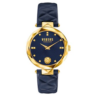 Versus Versace Ladies' Blue Leather Strap Watch - Product number 8391297