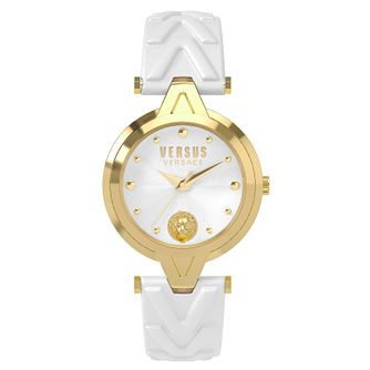 Versus Versace Ladies' White Leather Strap Watch - Product number 8391343