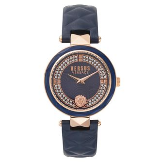 Versus Versace Ladies' Blue Leather Strap Watch - Product number 8391432