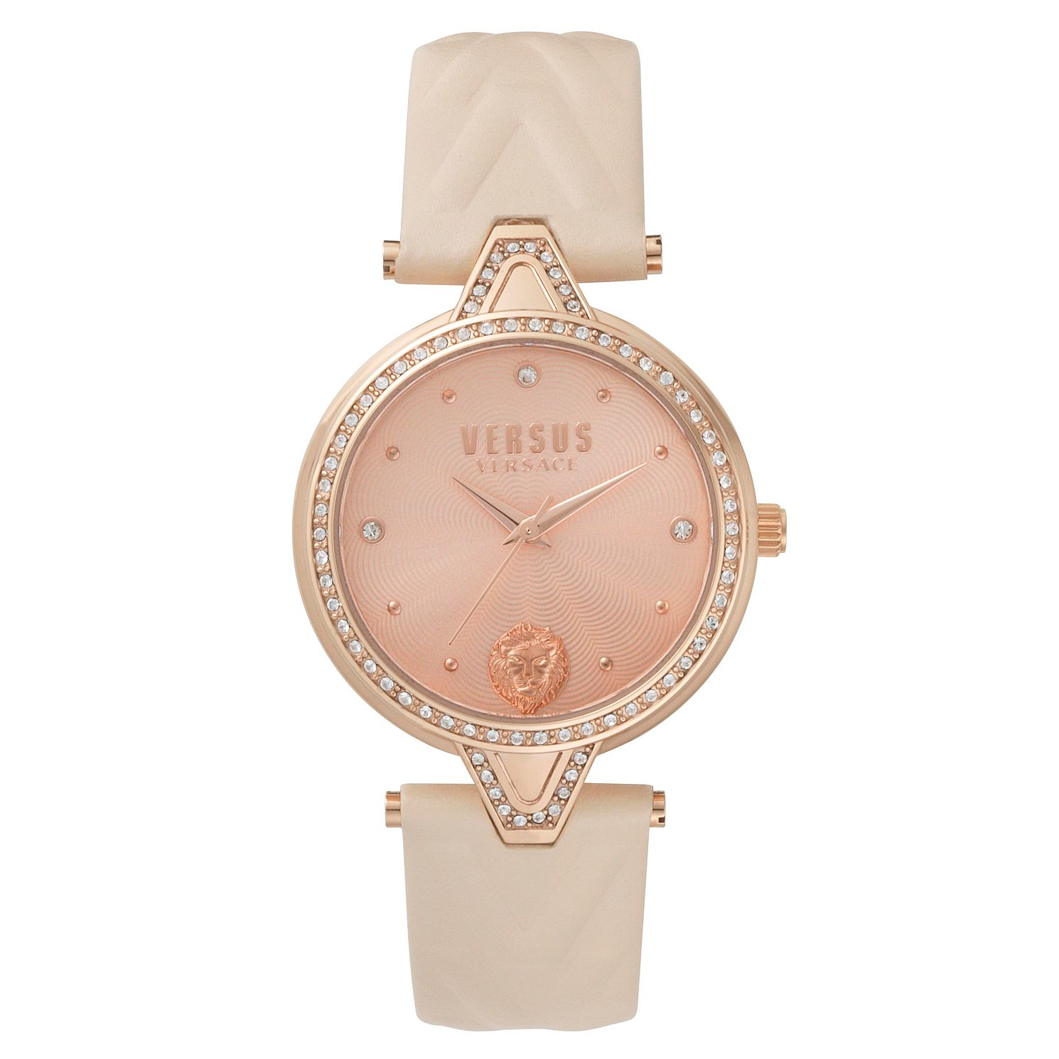 Versus Versace Ladies' Rose Gold Leather Strap Watch - Product number 8391459