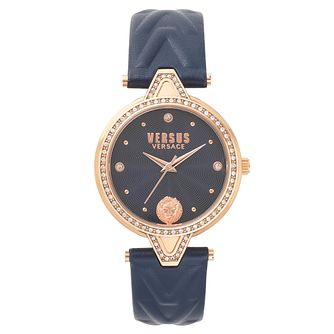 Versus Versace Ladies' Blue Leather Strap Watch - Product number 8391467
