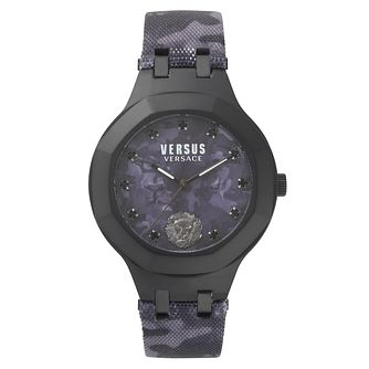 Versus Versace Ladies' Dark Purple Leather Strap Watch - Product number 8391572
