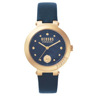 Versus Versace Ladies' Blue Leather Strap Watch - Product number 8391718