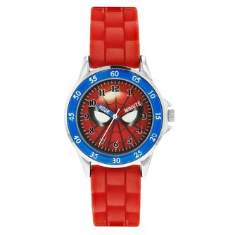 Disney Spiderman Children's Red Rubber Strap Watch - Product number 8391912