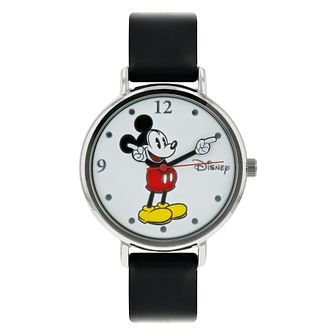Disney Mickey Mouse Black PU Strap Watch - Product number 8391939