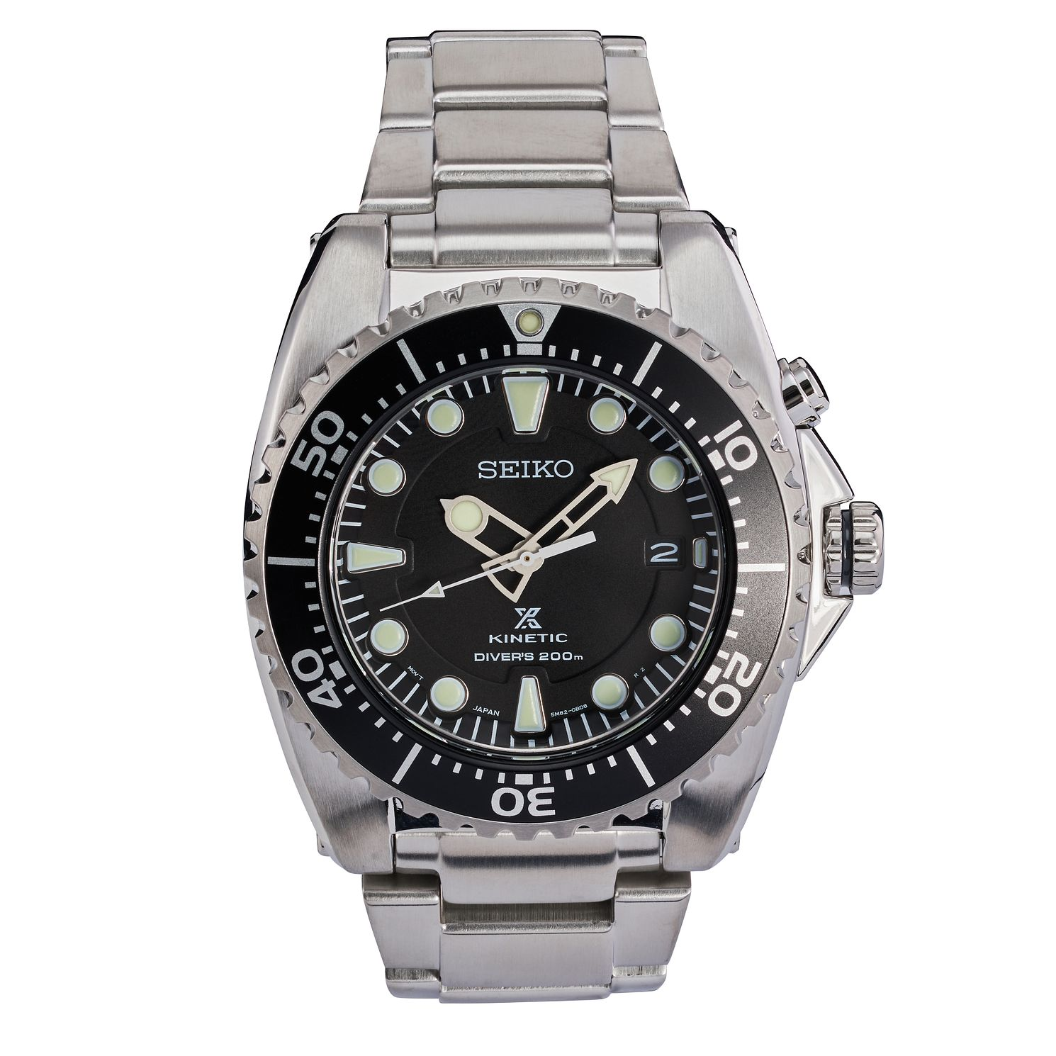 Seiko Prospex Kinetic Men's Stainless Steel Bracelet Watch