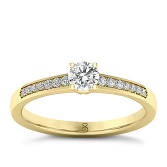 The Diamond Story 18ct Yellow Gold 0.25ct Diamond Ring - Product number 8396434