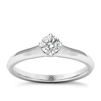 The Diamond Story Platinum 0.20ct Solitaire Ring - Product number 8396566