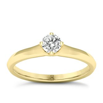 The Diamond Story 18ct Yellow Gold 0.20ct Solitaire Ring - Product number 8396892