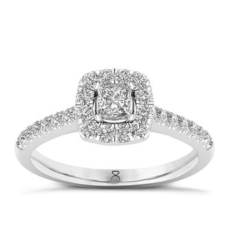 The Diamond Story Platinum 0.66ct Diamond Ring - Product number 8398410
