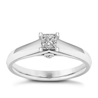 The Diamond Story Platinum 0.33ct Princess Cut Ring - Product number 8399379