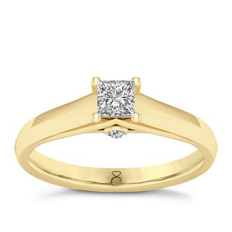 The Diamond Story 18ct Yellow Gold 0.33ct Princess Cut Ring - Product number 8399824