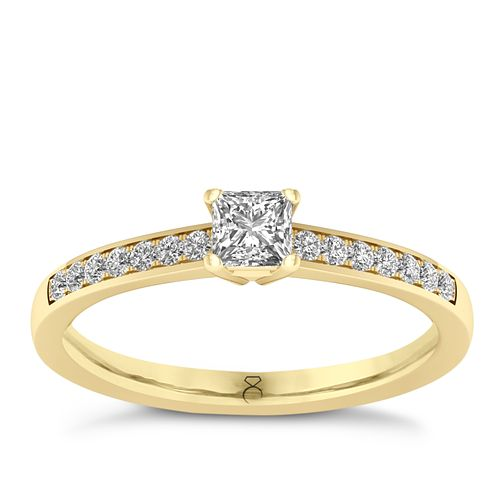 The Diamond Story 18ct Yellow Gold 0.33ct Princess Cut Ring - Product number 8400601