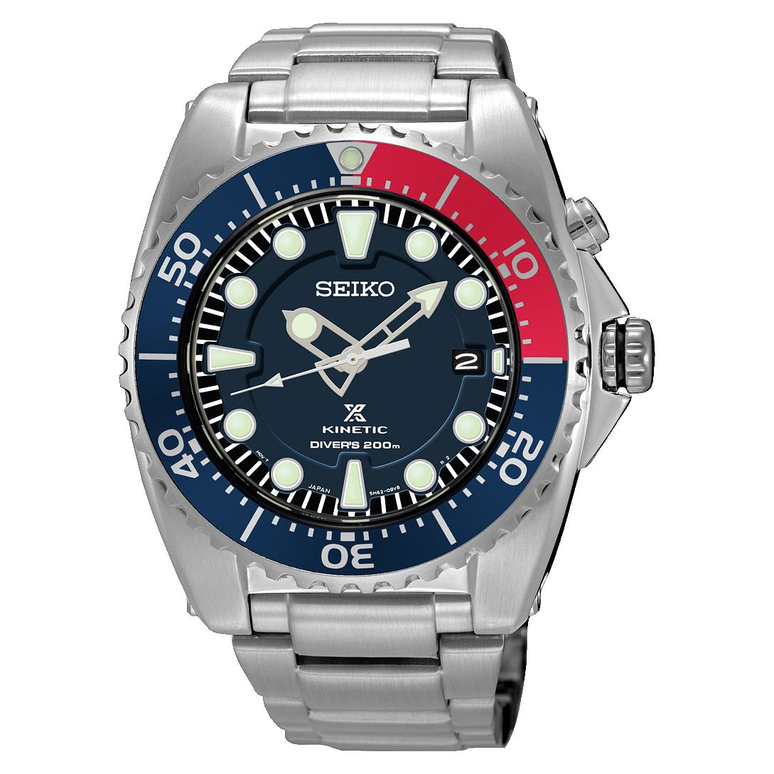 Seiko Prospex Kinetic Men's Stainless Steel Bracelet Watch - Product number 8400776