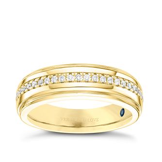 Vera Wang Men's 18ct Yellow Gold 0.23ct Diamond Band - Product number 8402191