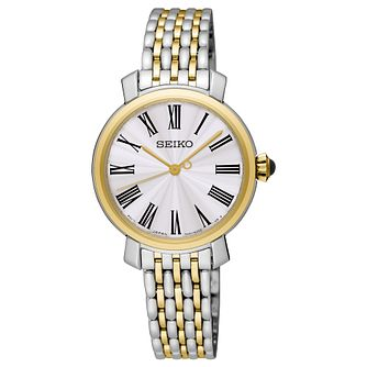 Seiko Ladies' Two Colour Yellow Gold Plated Bracelet Watch - Product number 8402442