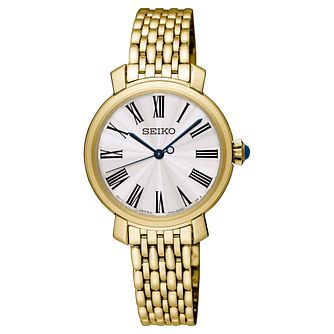 Seiko Ladies' Yellow Gold Plated Bracelet Watch - Product number 8402450